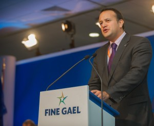 Minister Varadkar addressing the Fine Gael National Conference.