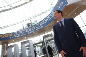 Leo Varadkar at the European People's Party Congress at the National Convention Centre in Dublin.