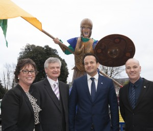 Minister Varadkar at the 2014 Meitheal tourism trade show in the Ballsbridge Hotel.