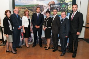 Minister Varadkar attending the Jump Into Ireland tourism promotion in San Diego.
