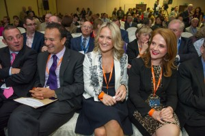 Minister Varadkar at the conference with (l. to r.): Gerry Buttimer TD, Helen McEntee TD and Senator Catherine Noonan.