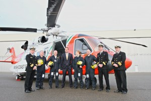Minister Varadkar launching the new Coast Guard helicopter.