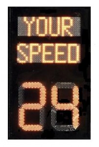 electronic speed sign