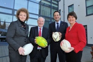 Gearing up for the bid (l. to r.): Minister Ni Chuilin, Minister Ring, Minister Varadkar, & Minister Foster.