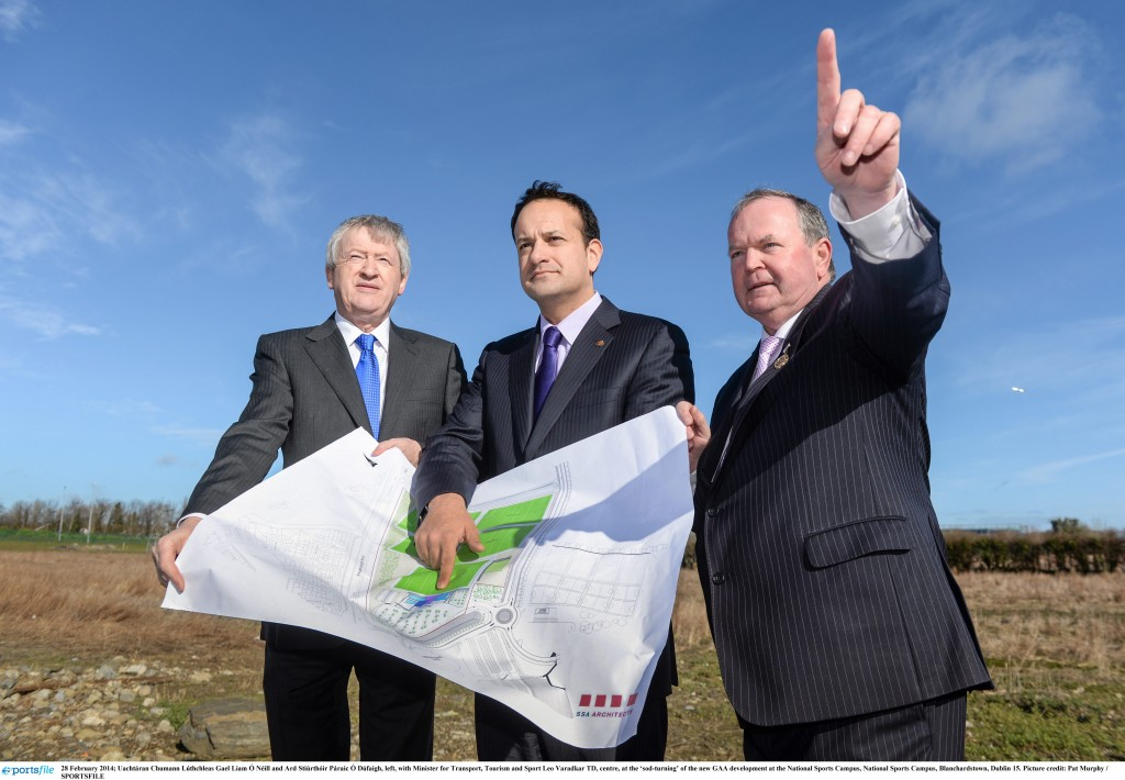 The 'sod-turning' of the new GAA development at the National Sports Campus