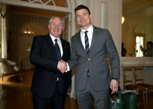 Michael Ring with Brian O'Driscoll 26/3/2014