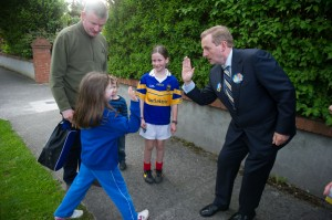 An Taoiseach, Enda Kenny canvassing in Carpenterstown.