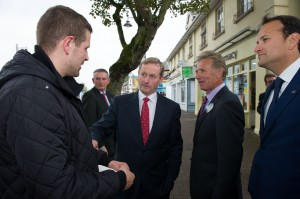 Senator Coghlan is joined by An Taoiseach, Enda Kenny meeting constituents in Blanchardstown.