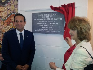 Minister Varadkar & Minister of Social Protection Joan Burton at the opening of Scoil Bhride Boys National School. It's one of eight new school buildings in D15 opened by this Government.