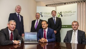 Minister Varadkar pictured at the launch with Neil McDonnell, General Manager FTA Ireland, Jonathan Molony, IRHA, Kevin Traynor, National Director CTTC, Tim Hayes, CEO of CILT, Finbarr Cleary, President of CILT.