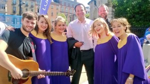 The Dublin Gospel Choir joined Minister Varadkar at the celebration.