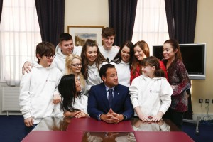 Minister Varadkar with the Youth Advisory Council of the New Children's Hospital.
