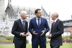 Minister for Health Leo Varadkar with Tom Costello, Chairman of the National Paediatric Hospital Development Board and John Pollock, Project Director for the National Paediatric Development Board.