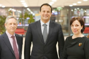 Minister Varadkar with Chairman Alan Connolly and CEO Pauline McKeown.