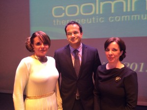 Minister Varadkar with award recipient Denise Pimley and CEO Pauline McKeown.