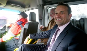 Minister Varadkar got first hand experience of the emergency services at Leopardstown Race Course recently. Jockey Ruby Walsh joined the Minister for the day.