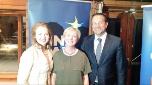 Minister Varadkar with Senator Catherine Noone (left) and Regina Doherty TD at the Selection Convention in Luttrelstown Golf Club.