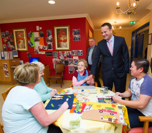 Minister Varadkar recently visited Moorehall Lodge Nursing Home in Drogheda.