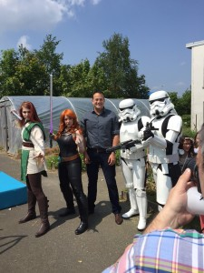 Leo bumped into some (new?) Star Wars characters at the Castleknock Educate Together Fair in glorious sunshine at the weekend.